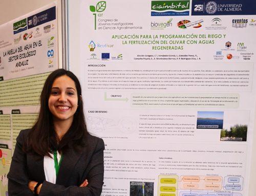 Presentada una APP para la programación del riego y la fertilización de olivar con aguas regeneradas en el I Congreso de Jóvenes Investigadores en Ciencias Agroalimentarias